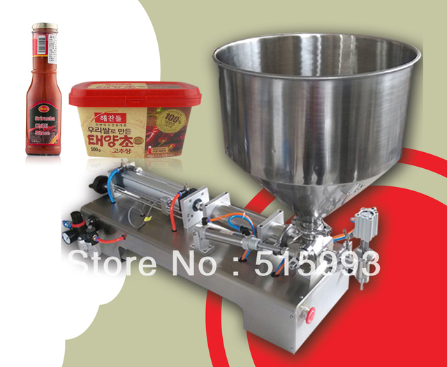 cheapest price 90-1000ml single nozzle with hopper automatic liquid paste filling machine for sale
