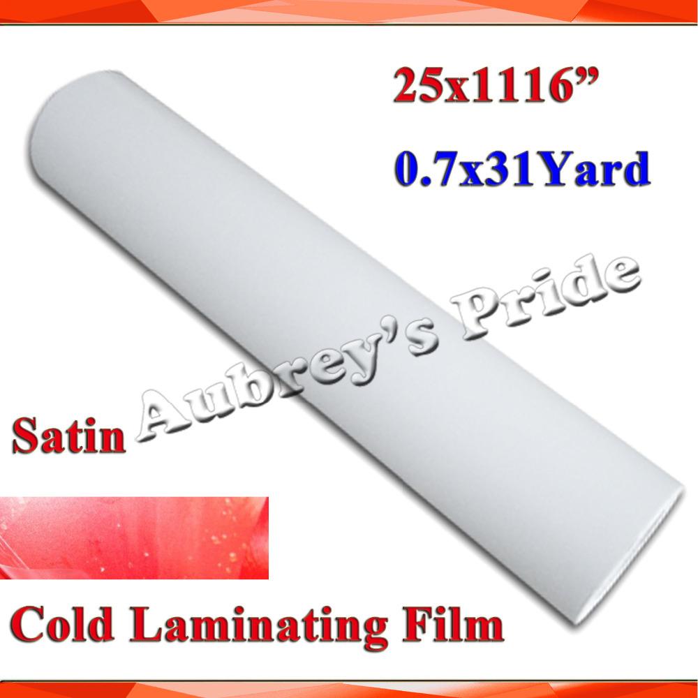 "NEW 25""X1Yards Satin PVC Cold Laminating Film Bilayer Protect Photo for Cold Lamintor(China (Mainland))"