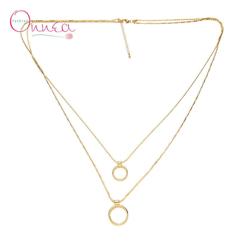 Vintage Summer Style Multilayer Two Pendants Multi Layer ...