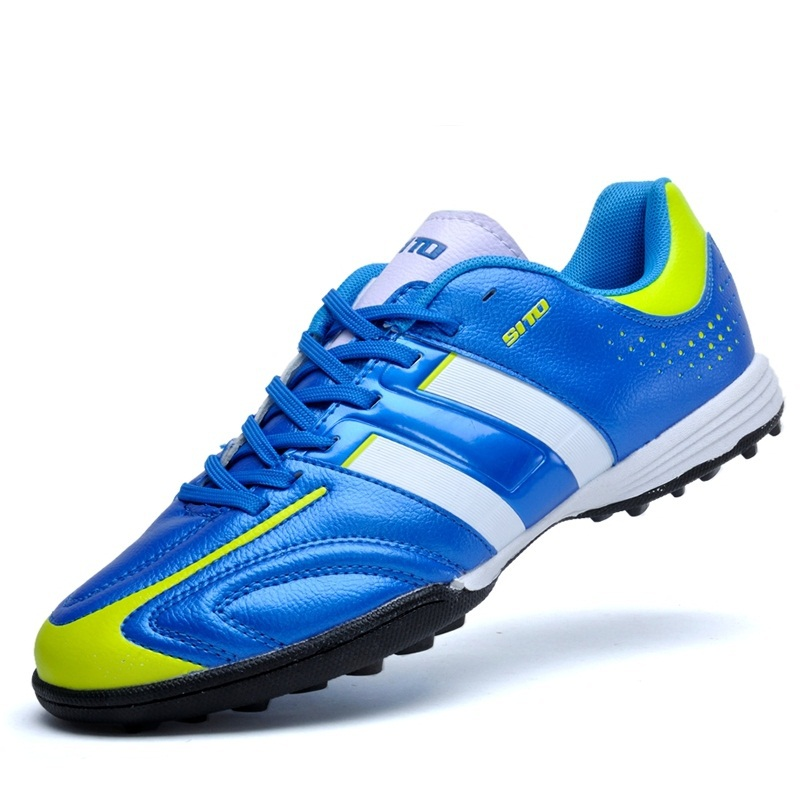 New Soccer Shoes Men Sports Shoes Male Comfortable Wearable Traning Shoes Pu Leather Football Shoes B1058(China (Mainland))