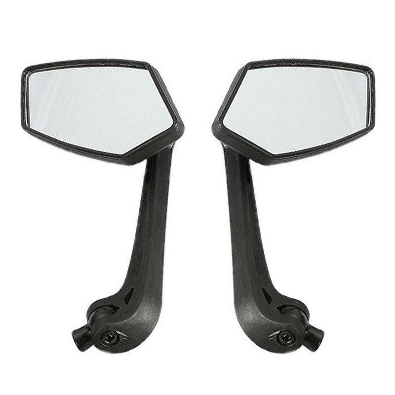 2x Universal Motorcycle RearView Mirrors Black 8mm 9mm 10mm ABS Custom Adjustable Side View Mirror For Street Bikes Sport Bikes(China (Mainland))