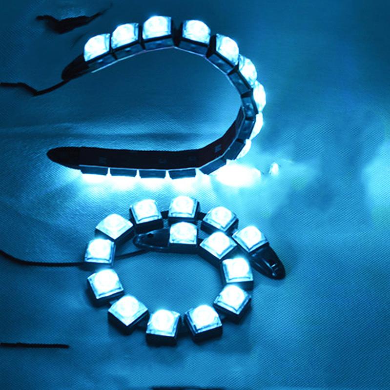 Automotive Electronic 2pcs/lot Super White 12 LED 30CM Daytime Running Lamps DRL Lights Bar Parking Car Fog Strobe Light DC12V(China (Mainland))