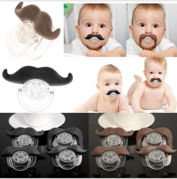 2016 new Funny Dummy Dummies Pacifier Novelty Teeth Moustache Babys Child pacifier clips Soother Beard pacifier for babies(China (Mainland))