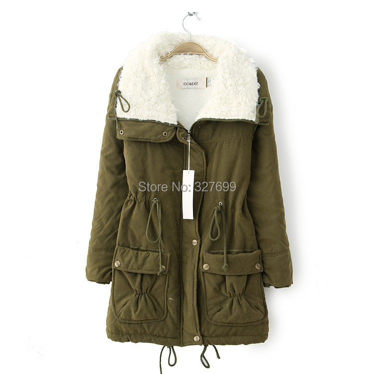 2015 Winter New Berber Fleece Jacket Coat Women's Clothing Napka Feminine Jaquetas Slim Long Jackets Parkas Down COAT-2808872(China (Mainland))