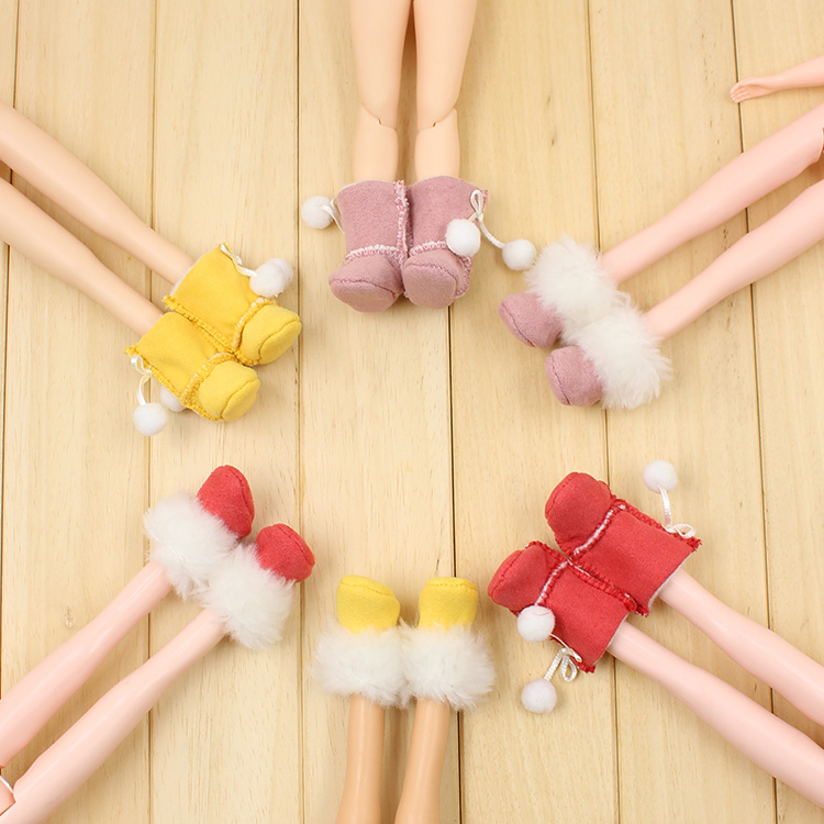 Free shipping cost 5 / bag Random delivery Blyth doll shoes Plush boots (suitable for blyth,Tang kou,pullip,1/6 doll)(China (Mainland))