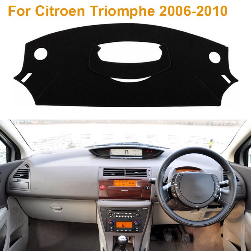 Фотография Car Styling Polyester Dashboard Protective Mat Shade Cushion Photophobic Pad Internal Carpet For Citroen Triomphe 2006-2010 RDH