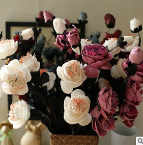 Free shipping Artificial Flowers real touch peony for Wedding Party or Birthday Home Decoration Office \Hotel decoration F12(China (Mainland))