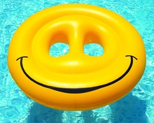 Buy 160CM 63 Inch Inflatable Smiley Pool Float Pool Inflatable Toys Float Pool Swim Ring Water Party Fun Pool Inflatable Toys Floats for $50.99 in AliExpress store
