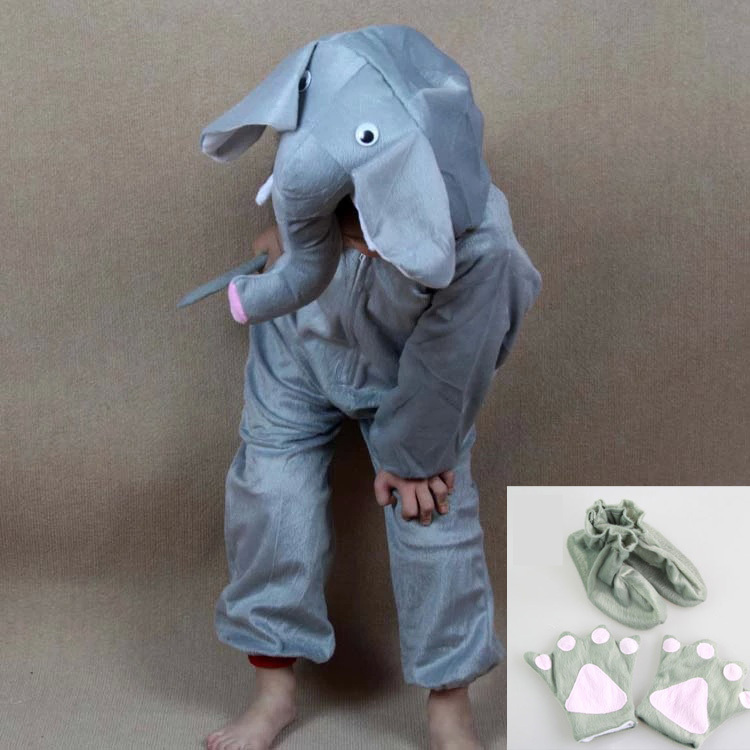 Children pyjamas cartoon animal elephants cosplay costume pajamas kids onesies sleepwear - Pyjama elephant ...
