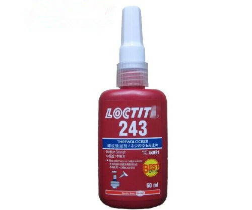 Free shipping 50ML LOCTIT 243 glue screw glue Blue glue anaerobic adhesive Moderate intensity adhesive Removable(China (Mainland))