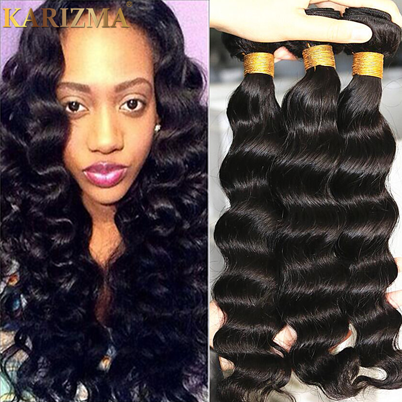 Brazilian Loose Deep Wave Weave Remy Indian Hair