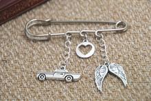 12pcs Supernatural inspired Destiel themed charm kilt pin brooch (38mm)