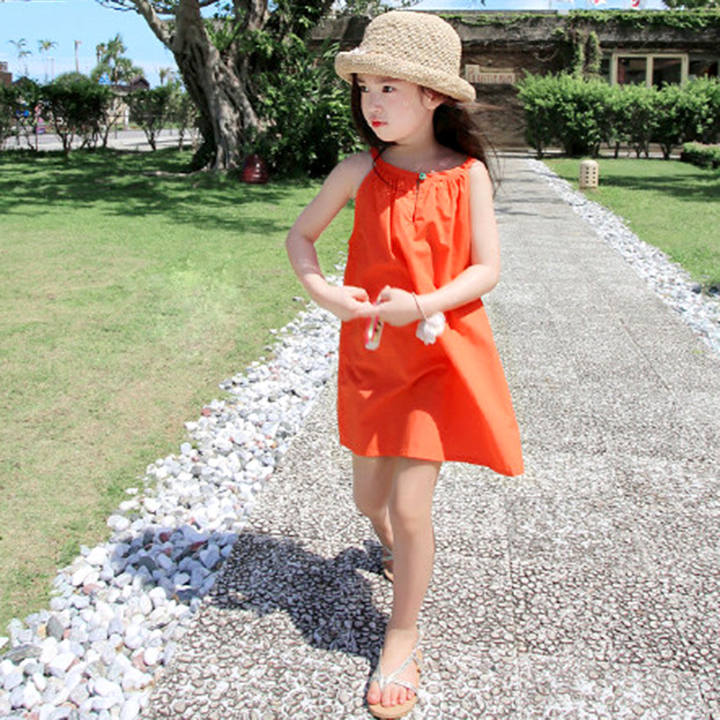2016 summer new collection, little girl's summer dress, for girls from 2 to 16 years old, purely cotton, very comfortable(China (Mainland))