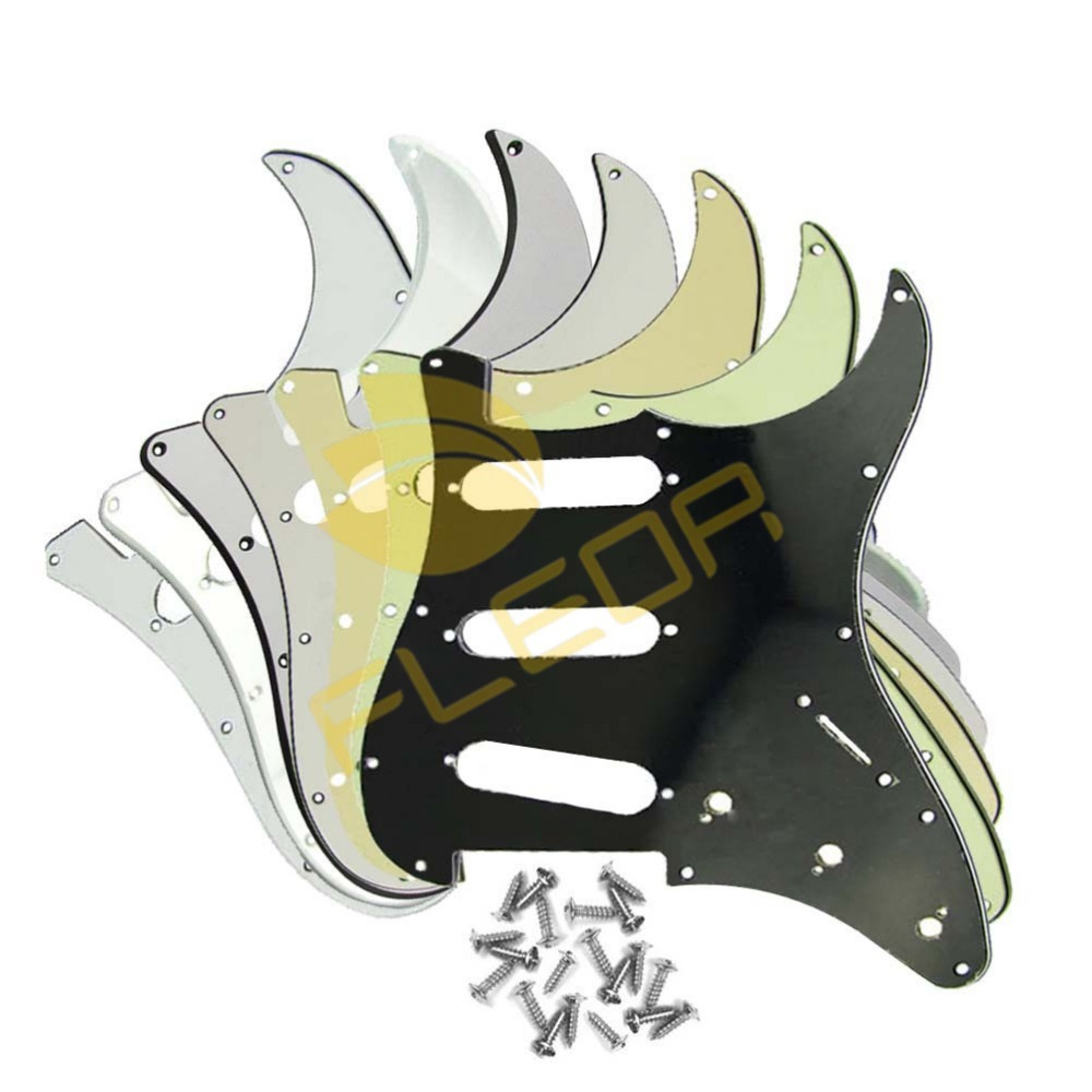 SSS Anti-scratch protection Squier Guitar Plate Pickguard Scratch Plate w/Screws,7 Different Colors Pickguard(China (Mainland))