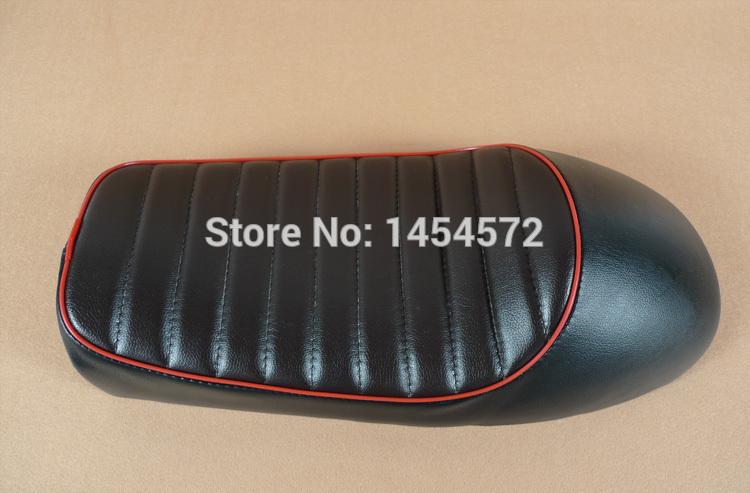Nero con il rosso un righe cg125 gn125 cafe racer sedili cb 250 parti sedile
