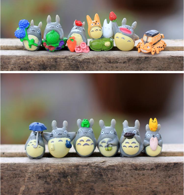 12pcs/bag My Neighbor Totoro Figuarts Resin Miniature Plactic Miyazaki Cartoon Anime Animation PVC 1-3CM Collectible Action(China (Mainland))