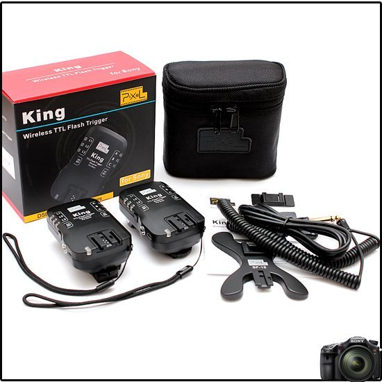 Pixel King for Sony, High Sync Speed up to 1/8000s, TTL Raido Slave