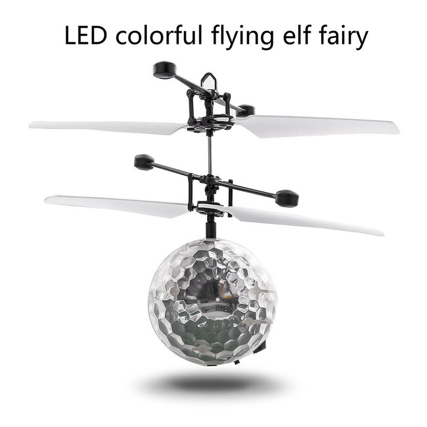 High Quality RC Flying Ball Drone Helicopter Ball Built-in Shinning LED Lighting for Kids Toy Free Shipping