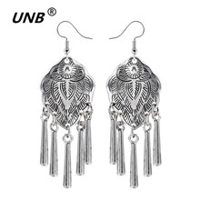Antique Silver Plated Vintage Alloy Carven Pattern Clasp Dangle Earrings for Women fashion jewelry earrings brand 2016