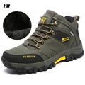 New Men Fur Winter Snow Boots Hike Non Slip Men Climbing Breathable Mountain Trial Trekking Shoes