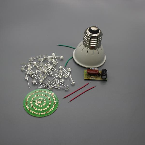 Free shipping new energy saving 38 leds lamps diy kits for Energy efficiency kit
