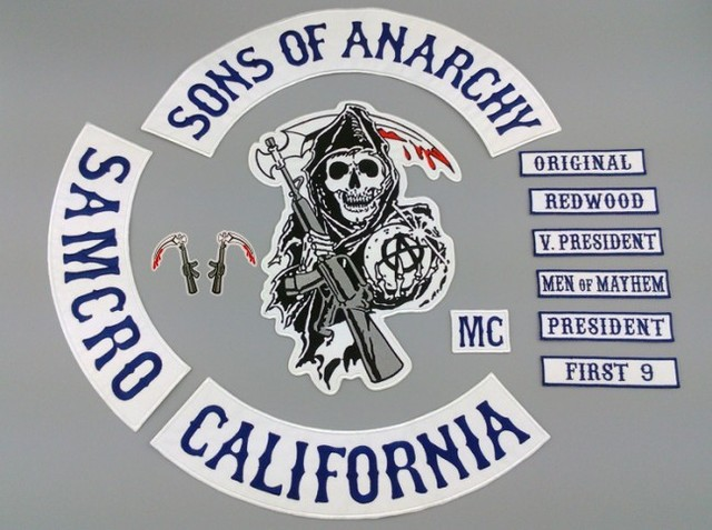 Sons of Anarchy Iron on Patches 2015 New Sons of Anarchy Patch