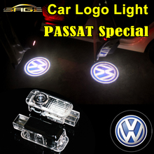 2 PCS Car Welcome Lights LED Door Lamps Auto Laser LOGO Light for VW Volkswagen PASSAT B5 Touareg Phaeton FREE SHIPPING(China (Mainland))