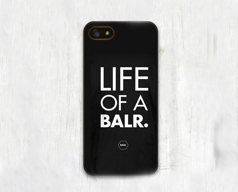 Life OF A BALR Customized Soft Black TPU Skin Mobile Phone Cases For iPhone 6 6S Plus 5 5S 5C 4 4S Back Cover Bags Shell