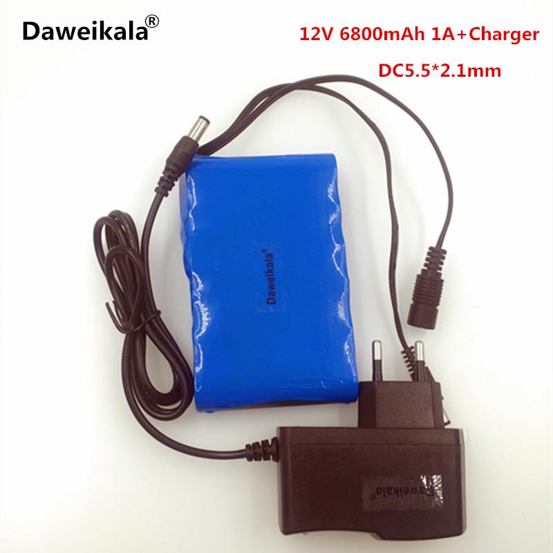 Daweikala Portable 18650 Li-ion battery pack, super capacitor DC 12V 6800mAh in Video Surveillance, Computer Aided Manufacture(China (Mainland))