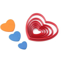 6 pcs Cookie Cutters Molds Heart Shape Fondant Cake Cookie Tools Mold Baking Mould Cooking Tools Kitchen Accessories Supplies