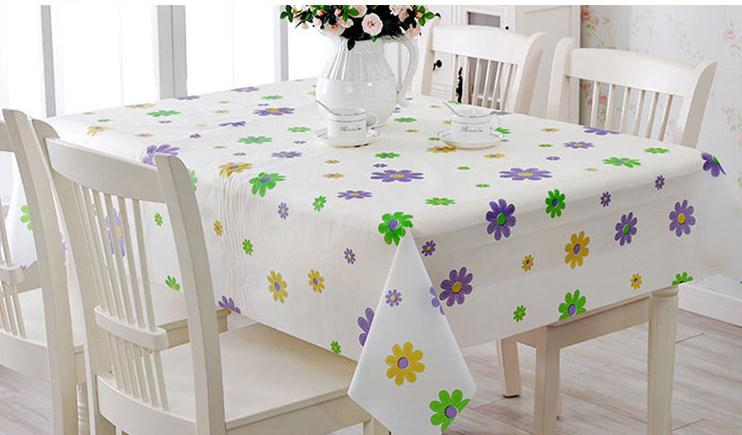 Waterproof oil proof tablecloth PEVA rural disposable plastic table cloth European style(China (Mainland))
