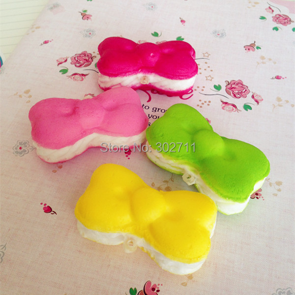 Candy Colors Hello Kitty Bow Macaroon Squishy Cell Phone Charm / Straps / Chain Free Shipping(China (Mainland))