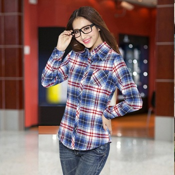 British Girls Designer Clothing Stores Women Girl Flannel Shirt