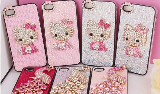 (Mixed Order) Cell Phone Case DIY Charms Alloy Hello Kitty Cat Decoration(China (Mainland))