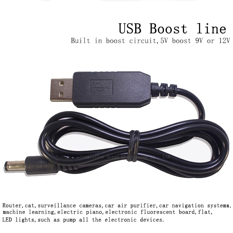 DC5521 8W USB 5V to 12V DC-DC Boost line fit WIFI Router modem Ethernet Switch Supply Step up Converter Boost line LED Moter<br><br>Aliexpress
