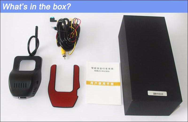 For Hyundai ix25 Car DVR Car Video Recorder Hidden installation car camera recorder Novatek 96658 HD 1080P wifi car black box