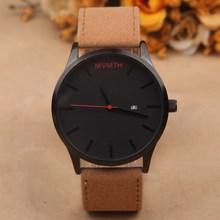 Brand new moda uomo orologi sportivi mvmt vintage quarzo  45mm-mostra orologi masculino maschio cinturino in pelle orologio  Relojes(China (Mainland))