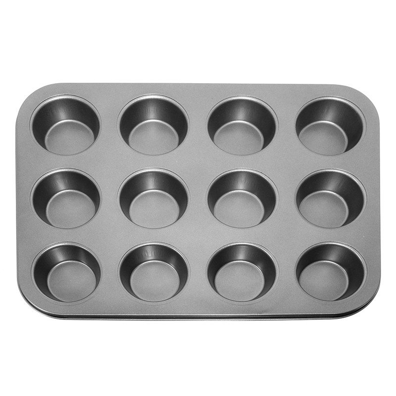 New Arrival Pan Muffin Cupcake Bake Cake Mould Mold Bakeware 12 Cups Dishwasher Safe Versatile Sturdy Kitchen Tool