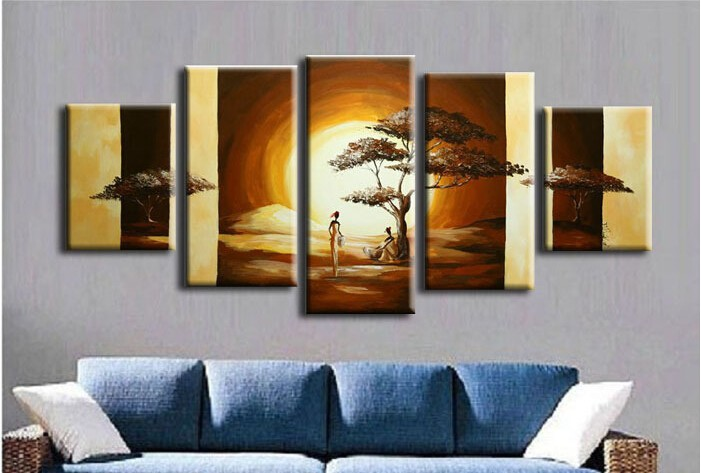 The <font><b>African</b></font> Impression 100% Handmade Modern Landscape Oil Painting On Canvas Wall Art <font><b>Home</b></font> <font><b>Decoration</b></font> Canvas Picture Wall Art