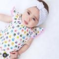 new newborn Toddler Infant One piece Lace Cartoon Rabbit Pattern Children Bodysuit Baby Girl Clothes Cute