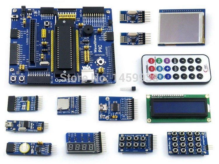 PIC Development Board PIC16F877A PIC16F877A-I/P 8-bit RISC PIC Development Board +14 Accessory Module Kits=Open16F877A Package B(China (Mainland))