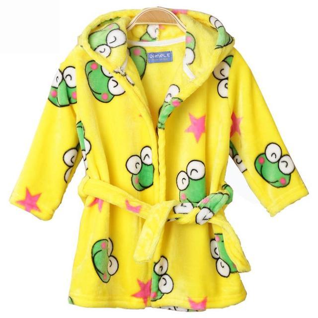 8 - 36 месяцев девушки халат ночной рубашке ребенка зима домашняя одежда av-главе ...