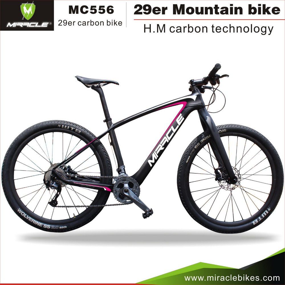 29er Mountain Carbon Bicycle , MIACLE MC556 Carbon Hard Tail Bikes MTB Carbon Bike New Design Pink Color 15.5/17.5/19/21<br><br>Aliexpress