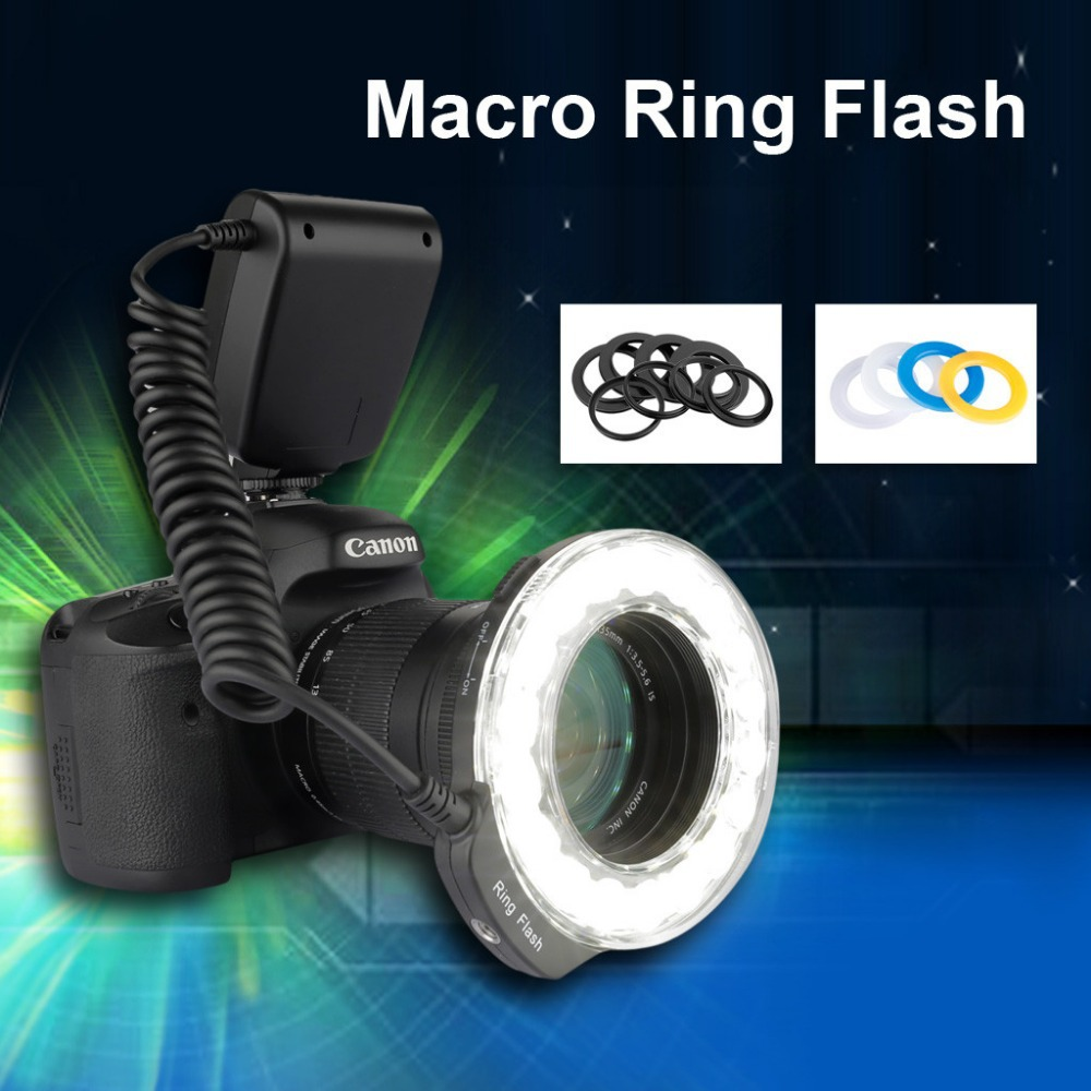LED Ring Flash Light Four Shooting Modes Close To Natural Light For Nikon/For Canon /For Panasonic LED Flash Light(China (Mainland))