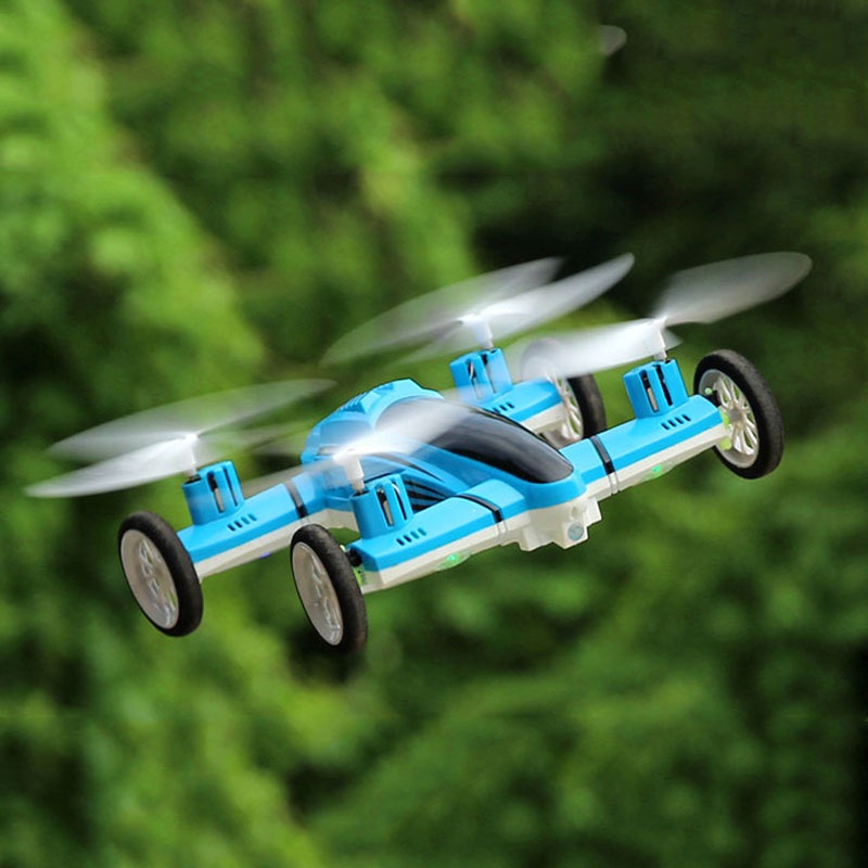 2.4G 6Axis Fly/Drive RC Quadcopter Drone 360 Roll Air/Land Flying Automobile Toy