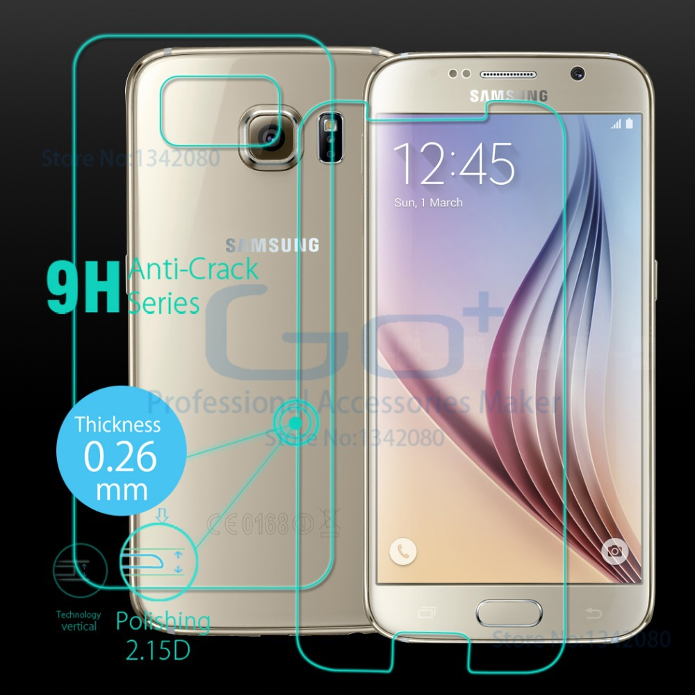 Original Arc Slim Full Body Tempered Glass for Samsung Galaxy S6 SM-G920 Screen Protector Front Back 9H Explosion-Proof S6 Film(China (Mainland))