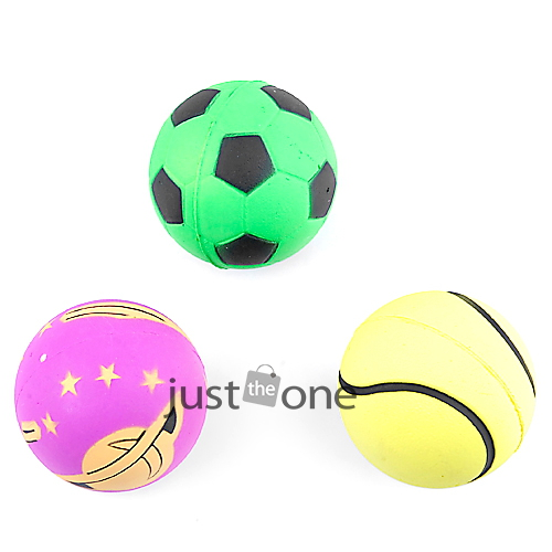 Free Shipping Pet Dog Bite-resistant Rubber Soccer Fun Play Toy Ball Playing Ball(China (Mainland))