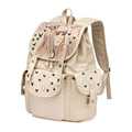 Butterfly Girl Print Manual Graffiti Fashion Bag Women Durable Canvas Drawstring Backpack Solid Color Designer Practical