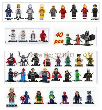 DECOOL Marvel 40Super Heroes Avengers Green Lantern FantasticFour Minifigures building Blocks Toys - F & C Store store