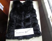 New 2015 Winter Coat Women Fashion Import Overcoat Whole Peel Fox Fur Faux Vest High-Grade Cappa Fur Coat Leisure Women Coat(China (Mainland))